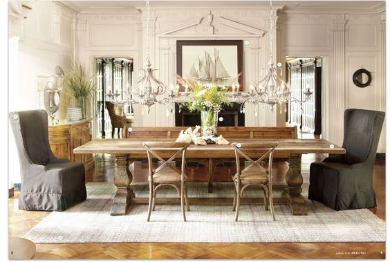 ARHAUS kitchen table chandeliers: