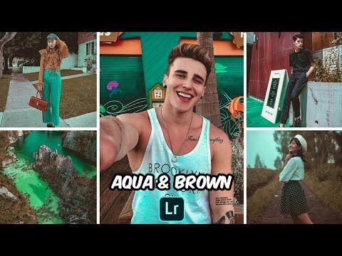 Aqua and brown