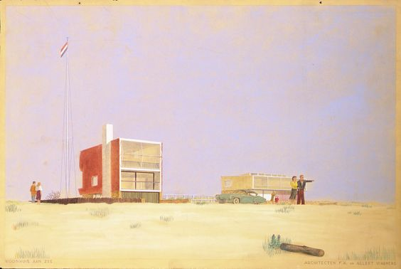 Woonhuis aan Zee | Casa en la FA Mar en A. Warner.  Colección Het Nieuwe Instituut
