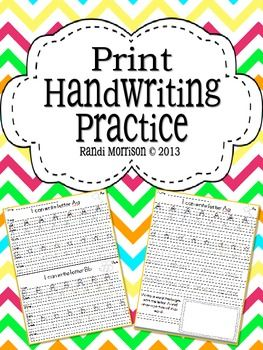 Print Style Handwriting Practice Book | Student, Writing centers ...
