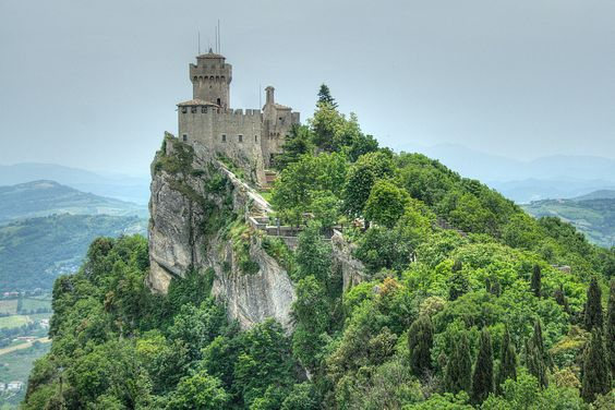Monte Titano in the Serene Republic of San Marino from Everything Everywhere blog