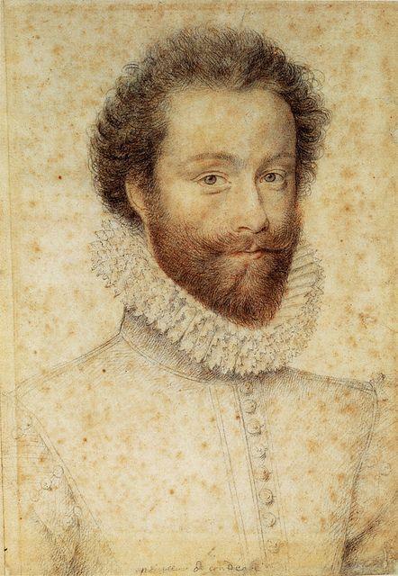 Louis I of Conde (1530-1569) by François Clouet ~ François Clouet (1510-1572)…: