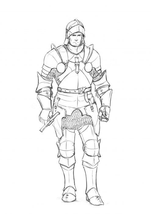How to Draw Armor | Drawingforall.net