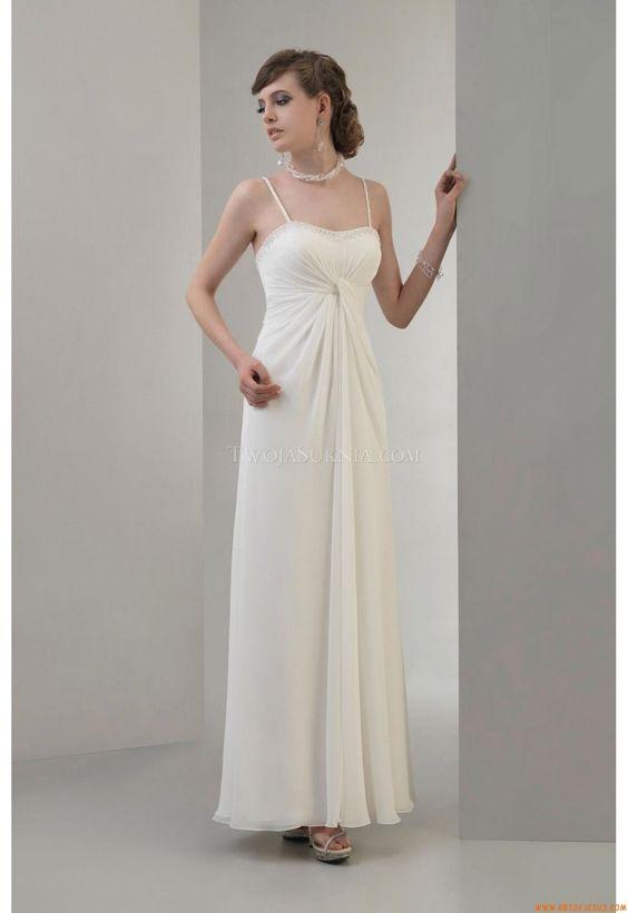Elegant Spaghetti Straps Ankle-Floor Unique Wedding Dress Venus VN6684 Venus Informal 2011