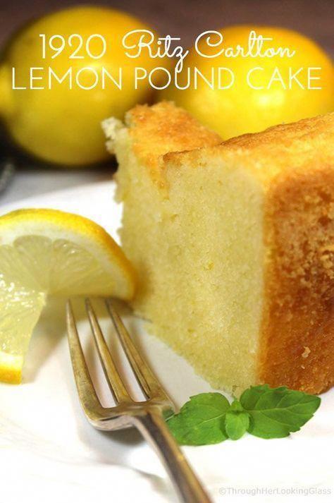 1920 Famous Ritz Carlton Lemon Pound Cake