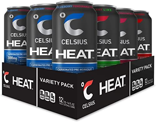 Celsius Heat Performance Energy Drink 4 Flavor Variety Pack Zero Sugar 16oz Can 12 Pack Https Helpthearts Info C Flavor Variety Good Pre Workout Thermogenic