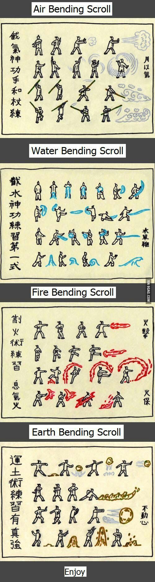 Avatar's bender training scroll. I need this, in case the fire nation attack Minnesota <-- Lol comment