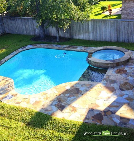 Tile can make a great pool boundary.