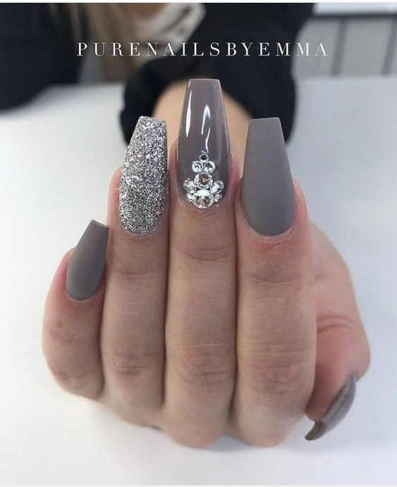 60 Newest Coffin Nails Designs 2018 Short Coffin Nails Long Coffin Nails Acrylic Coffin Nails Squar Winter Nails Acrylic Nail Designs Coffin Nails Designs