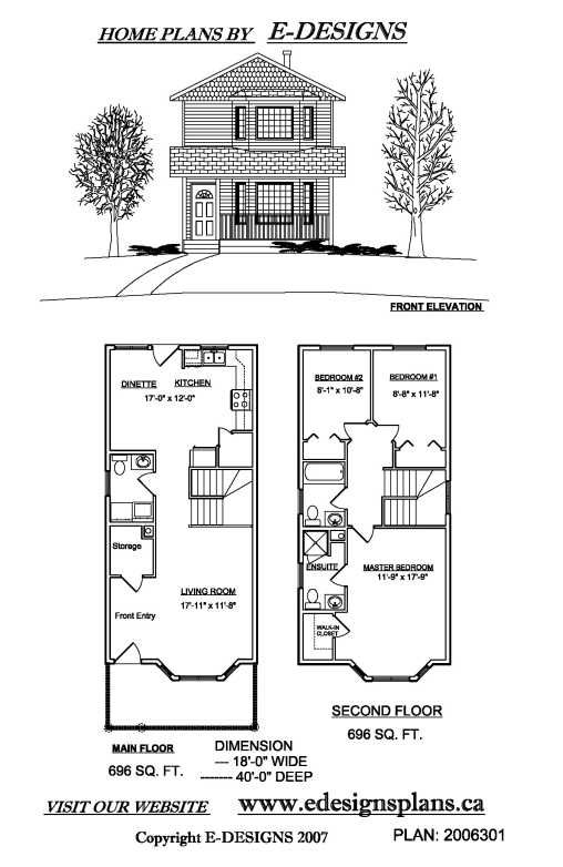plan 67718mg: duplex house plan for the small narrow lot | new
