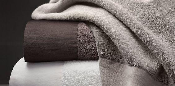650-Gram Linen-Bordered Turkish Towels | RH