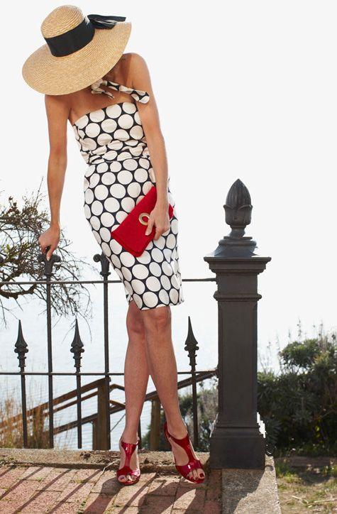 Classic polka dots: Polka Dots, Dress Hats, Summer Style, Elegant Chic, Spring Summer, Classic Elegant, Summer Chic