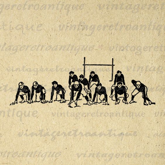 Antique Football Team Digital Graphic Image Vintage Sports Printable Download Clip Art Jpg Png Eps 18x18 HQ 300dpi No.4304 @ vintageretroantique.etsy.com #DigitalArt #Printable #Art #VintageRetroAntique #Digital #Clipart #Download: