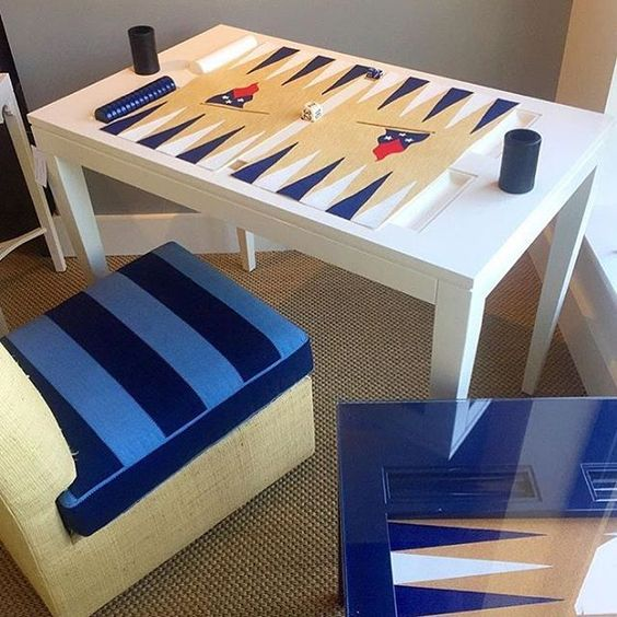 Friday Fun! @nine_fair board on our classic backgammon table... Work in progress!