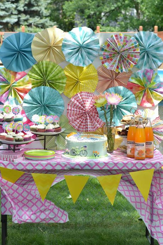 You have to see this bicycle birthday party! See more party ideas at CatchMyParty.com!