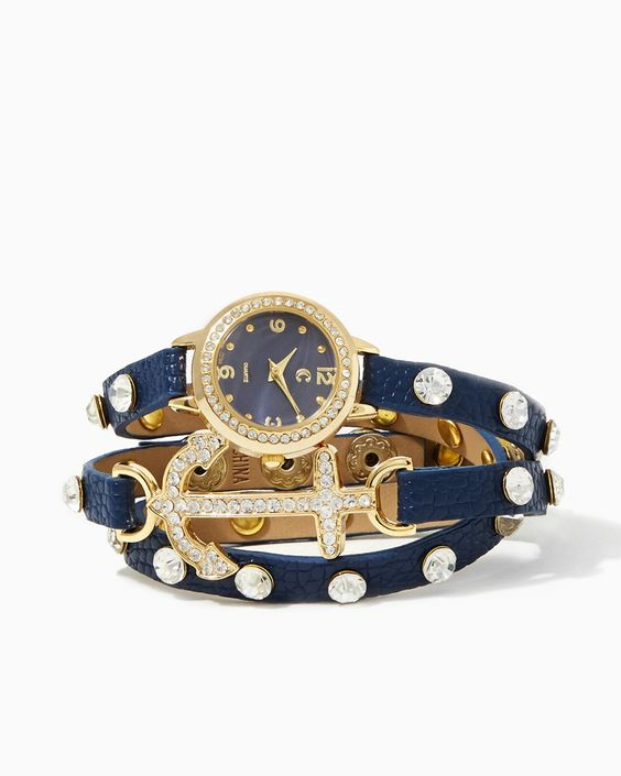 You'll never lose track of time ever again! | Anchor Ahoy Wrap Watch | UPC: 410006287235