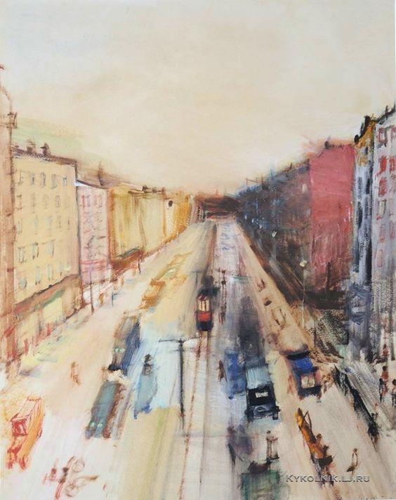 Лабас Александр Аркадьевич (1900-1983) «Улица в Ленинграде» 1928