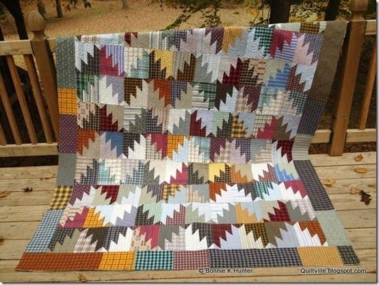 Scrappy Mountain Majesties Made With Recycled Shirts For