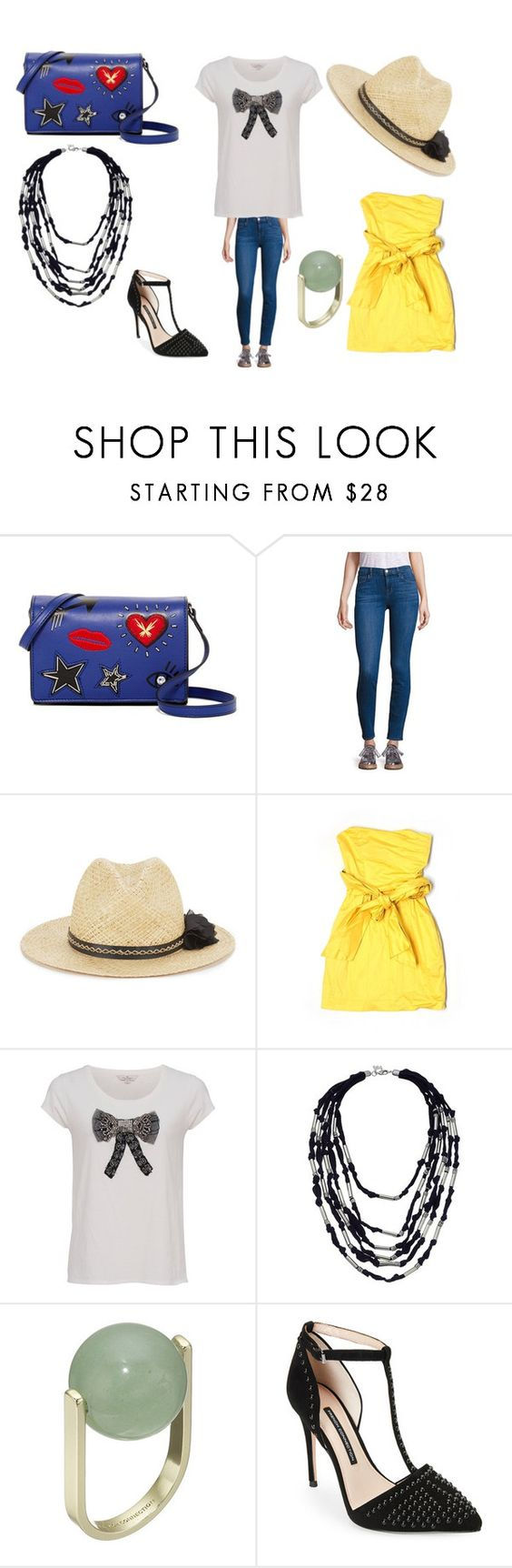 """""""connections"""" by efrat-kazoum on Polyvore featuring French Connection and J Brand"""