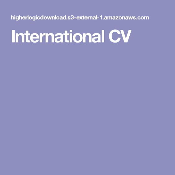 International CV Resumes Pinterest Pdf - resume with no college degree