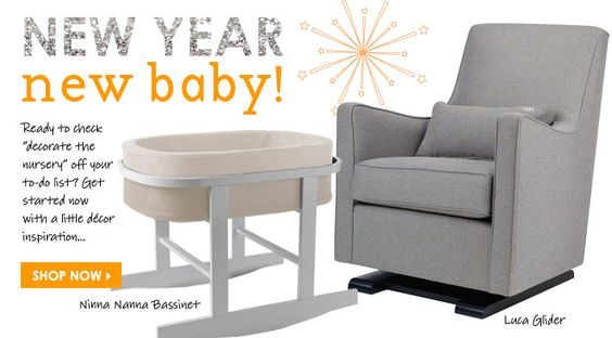 Ano Novo, novo bebê!  - Pronto para verificar decorar o berçário de fora da lista?  Comece agora com uma inspiração decoração pouco ...
