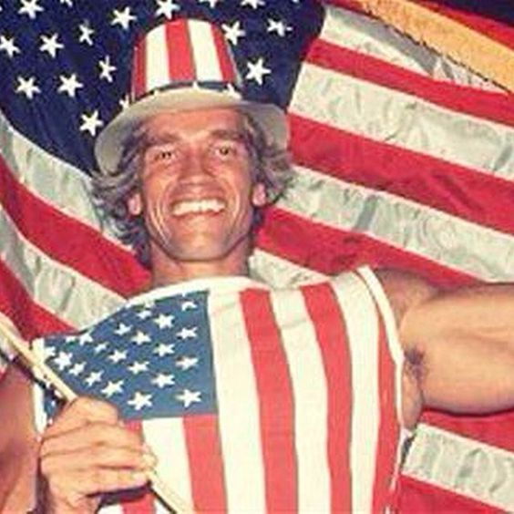Arnold Schwarzenegger,the day he received his US citizenship