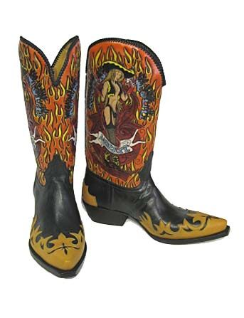 Liberty Rock &39N Roll (Gold) - Handmade Cowboy Boots from Liberty