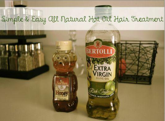 As We Grow: hot oil hair treatment 'how to'