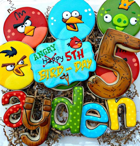 Angry Bird's cookies: