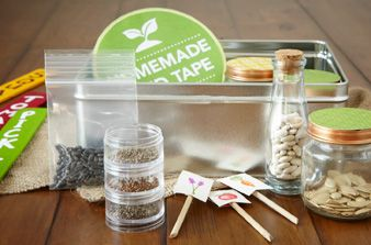 Make a Seed Storing Kit- If you have leftover seeds, or you're not ready to plant right now, storing them properly is important to ensure germination happens when planted later. Save seeds for years to come with our simple-to-make seed storing kit. What to Include: •Bags & Envelopes: Ensure dryness & a dark environment. Place seed packets in zip-lock bags & envelopes before tucking into containers.   •Labels: Keep everything organized, with our creative labeling ideas or homemade plant…