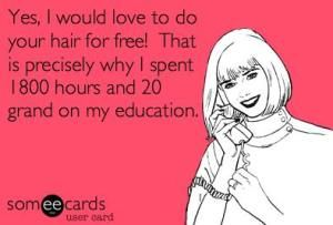 Hairstylist problems, 2000 hours in montana. blah