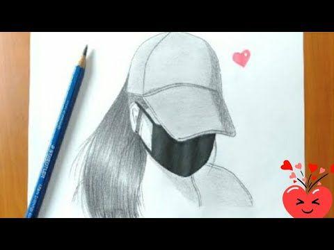 تعليم رسم فتاة ترتدي كمامة و قبعة رسم بنات للمبتدئين بالرصاص رسم سهل تعليم الرسم للمبتدئين Youtube In 2021 Pencil Drawings Girl Drawing Butterfly Drawing