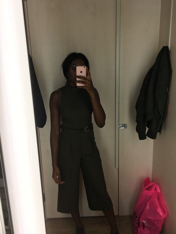 Culottes jumpsuit #riverisland #khaki #fashion #uk #mirror