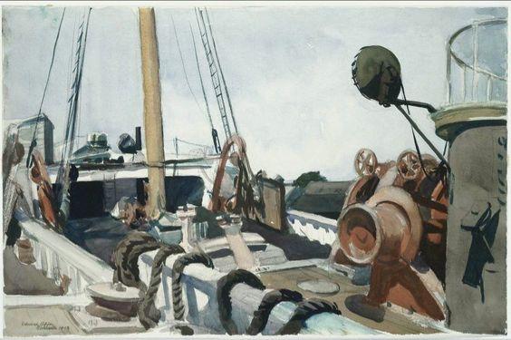 Edward Hopper - Deck of a Beam Trawler, Gloucester - 1923