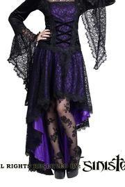PRE-ORDER Katarina Violet Fishtail Gothic Skirt par Sinister