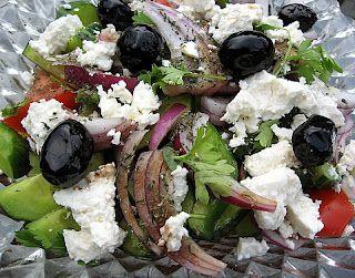 Greek Horiatiki Salata - Kalofagas - Greek Food & Beyond