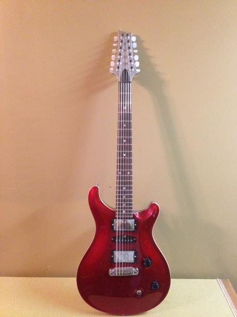 Paul Reed Smith PRS Custom 22/12String 2006 Metallic Red/Metallic Silver…