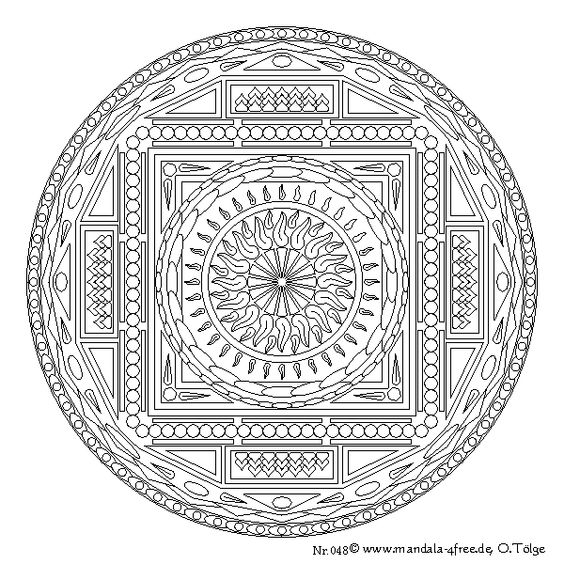 Tibetan Mandala To Color Google Search Mandalas And Tibetan Mandala Coloring Pages