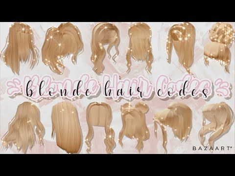 Aesthetic Blonde Hair Codes Part 3 Roblox Bloxburg Youtube Cute Blonde Hair Roblox Blonde Hair Roblox