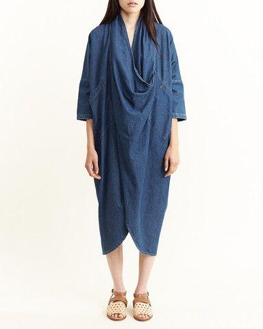 69 - Cocoon Dress in Med Wash
