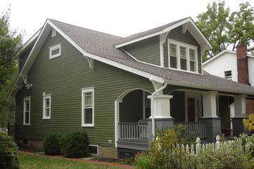 Moss Green Exterior House Paint Home Design