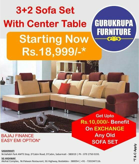 Get Upto Rs 10 000 Benefit On Exchange Old Sofa Set 3 2 Sofa Set