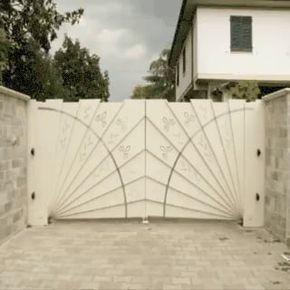 Fan Folding Gate Gate Design Automatic Gates Driveways Driveway Gate