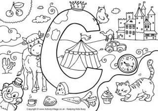 I Spy Alphabet Colouring Pages