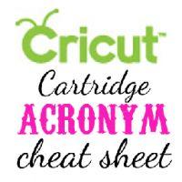 cricut acronym cheat sheet