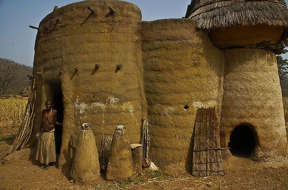 Tatas, castle-like houses that are handmade without any tools in Tamberma Valley, north Togo, Africa: