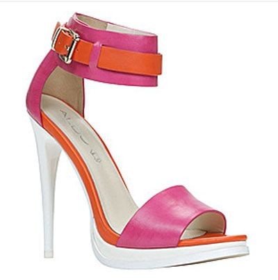 Pink and Orange high heel sandal | Female Fashion Finds