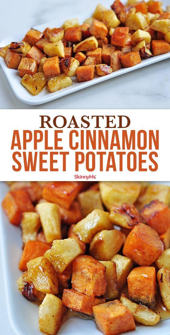 Roasted Apple Cinnamon Sweet Potatoes