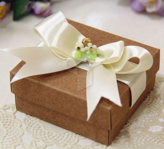 Caixa Kraft Quadrada para bem casados