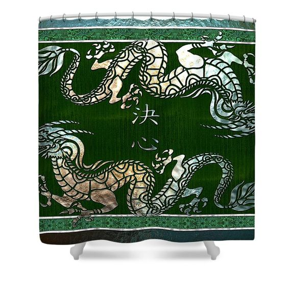 Chinese dragon, Shower curtains and Chinese on Pinterest